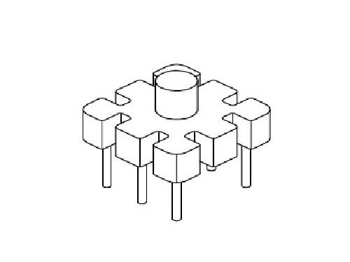 YT-004  磁環底座 基座 BASE   10×10 BASE(3+3P)  變壓器骨架,貼片式骨架