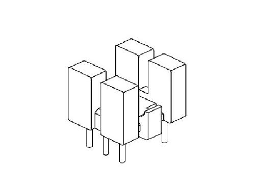 YT-005  磁環底座 基座 BASE   9×8BASE(3+3P) 變壓器骨架,貼片式骨架